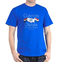 Clinton / Obama 2008: Great for America Dark T-Shi