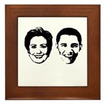 Clinton / Obama 2008 Framed Tile