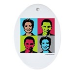 Clinton / Obama 2008 Oval Ornament