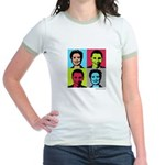 Clinton / Obama 2008 Jr. Ringer T-Shirt