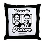 Clinton / Obama 2008 Throw Pillow
