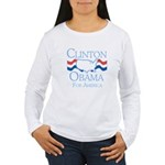 Clinton and Obama for America Women's Long Sleeve