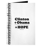 Clinton + Obama = Hope Journal