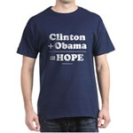 Clinton + Obama = Hope Dark T-Shirt
