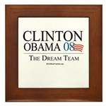 Clinton/Obama: The Dream Team Framed Tile