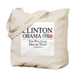 Clinton/Obama: The Dream Team Tote Bag