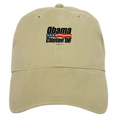 Obama Clinton 08 Cap