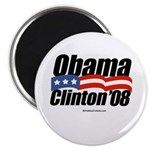 Obama Clinton 08 Magnet