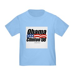 Obama Clinton 08 Toddler T-Shirt