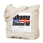 Obama Clinton 08 Tote Bag