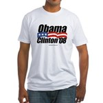 Obama Clinton 08 Fitted T-Shirt