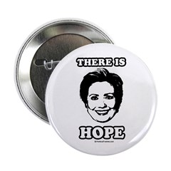"Hillary Clinton: There is hope 2.25"" Button (10 pa"