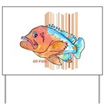 Cartoon Fish Grouper Yard Sign