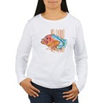 Cartoon Fish Grouper Women's Long Sleeve T-Shirt