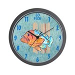 Cartoon Fish Grouper Wall Clock