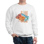 Cartoon Fish Grouper Sweatshirt