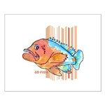 Cartoon Fish Grouper Small Poster
