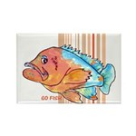 Cartoon Fish Grouper Rectangle Magnet
