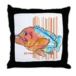Cartoon Fish Grouper Throw Pillow