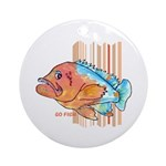 Cartoon Fish Grouper Ornament (Round)