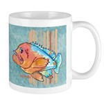 Cartoon Fish Grouper Mug