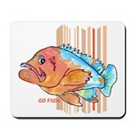Cartoon Fish Grouper Mousepad