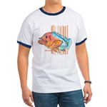 Cartoon Fish Grouper Ringer T
