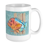 Cartoon Fish Grouper Large Mug