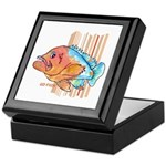 Cartoon Fish Grouper Keepsake Box