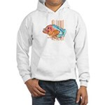 Cartoon Fish Grouper Hooded Sweatshirt