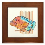Cartoon Fish Grouper Framed Tile