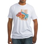 Cartoon Fish Grouper Fitted T-Shirt