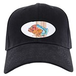 Cartoon Fish Grouper Black Cap