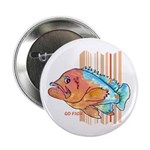 "Cartoon Fish Grouper 2.25"" Button (10 pack)"