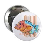 "Cartoon Fish Grouper 2.25"" Button"