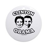 Clinton + Obama Ornament (Round)
