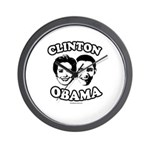 Clinton + Obama Wall Clock