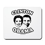 Clinton + Obama Mousepad