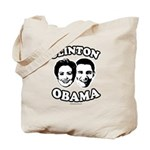 Clinton + Obama Tote Bag