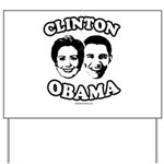 Clinton + Obama Yard Sign