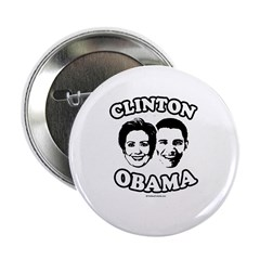 """Clinton + Obama 2.25"""" Button"""