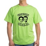 Clinton + Obama Green T-Shirt