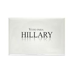 Voto para Hillary Clinton Rectangle Magnet (10 pac