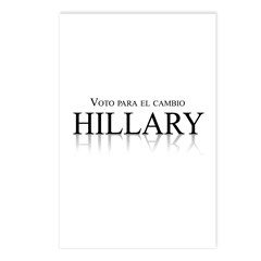 Voto para el cambio Postcards (Package of 8)