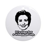 Hillary Clinton: It's time for a woman on top Orna