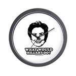 Hillary Clinton: What would Hillary do? Wall Clock