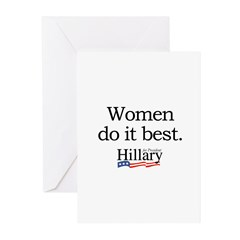 Women do it best: Hillary 2008 Greeting Cards (Pk