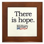 There is hope: Hillary 2008 Framed Tile