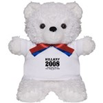 Hillary 2008: You'd run too Teddy Bear
