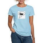 Thinking of White Water Rafti Women's Light T-Shir